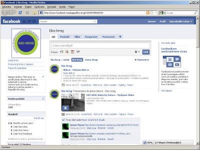 Slika Eko krogove strani na Facebooku, 13. september 2010