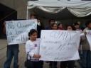 Protest proti sežiganju odpadkov v cementarni v Huichapanu